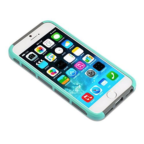 iPhone Non Slip Perfect-Fit Plastic Silicone Rubber Bumper Slim Heavy Duty Dual Cover for iPhone and iPhone