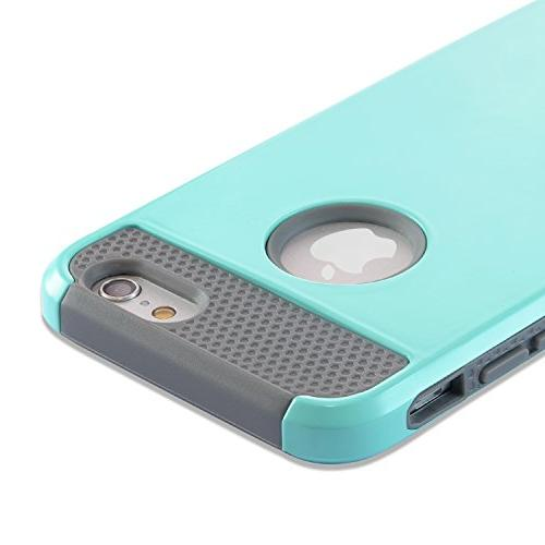 iPhone Case, 6 6S Case Plastic Silicone Protective Rubber Bumper Slim Cover for iPhone and iPhone 6S