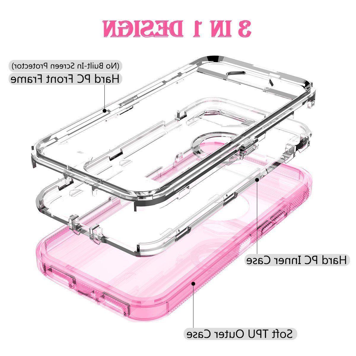 Fit iPhone Transparent Armor Heavy Case