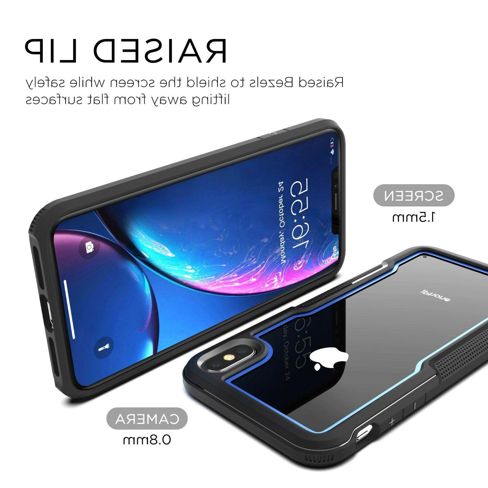 FOR iPhone MAX XR Duty Shockproof Clear Protection Cover