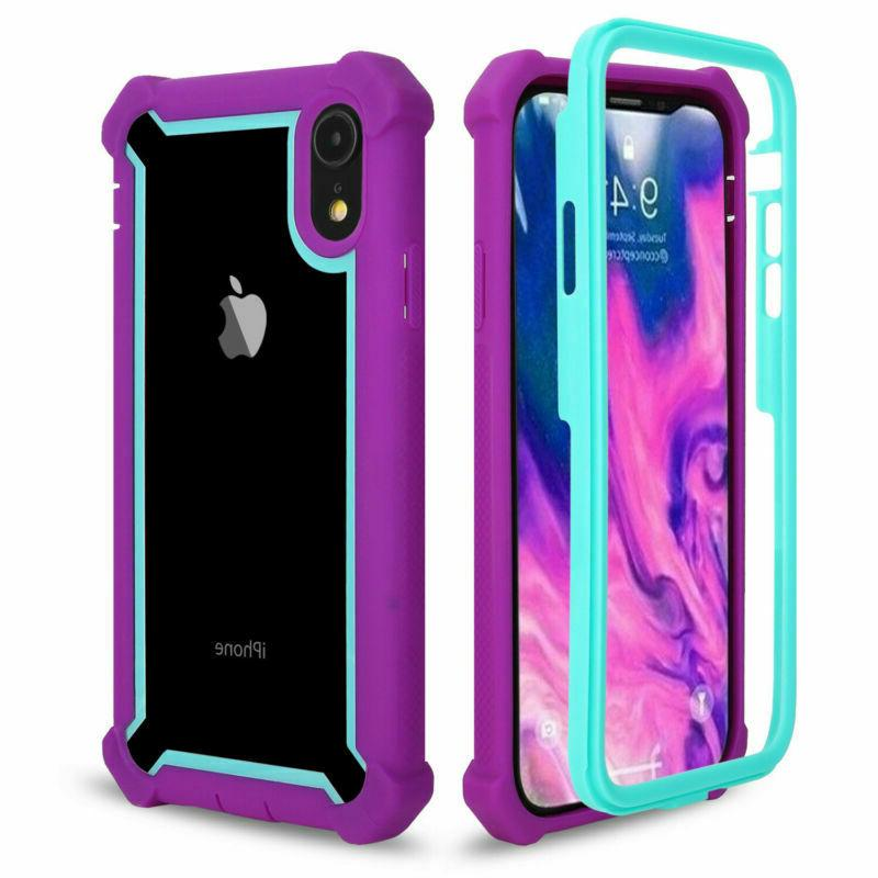 For iPhone MAX 7 8 Plus Clear Cover Shockproof Heavy