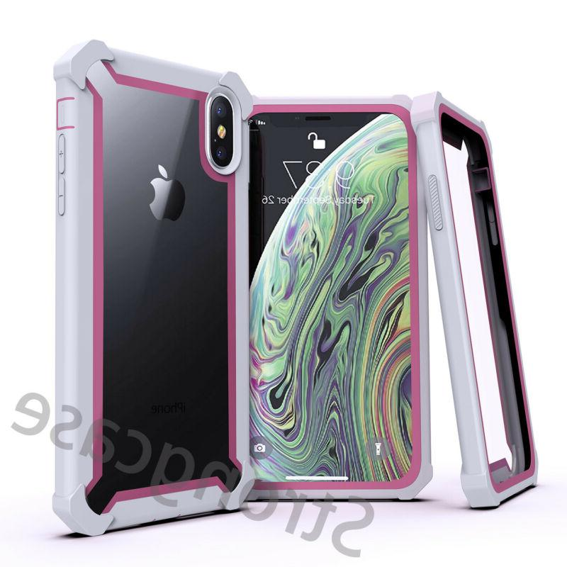 For iPhone MAX Plus Clear Case Shockproof Hybrid