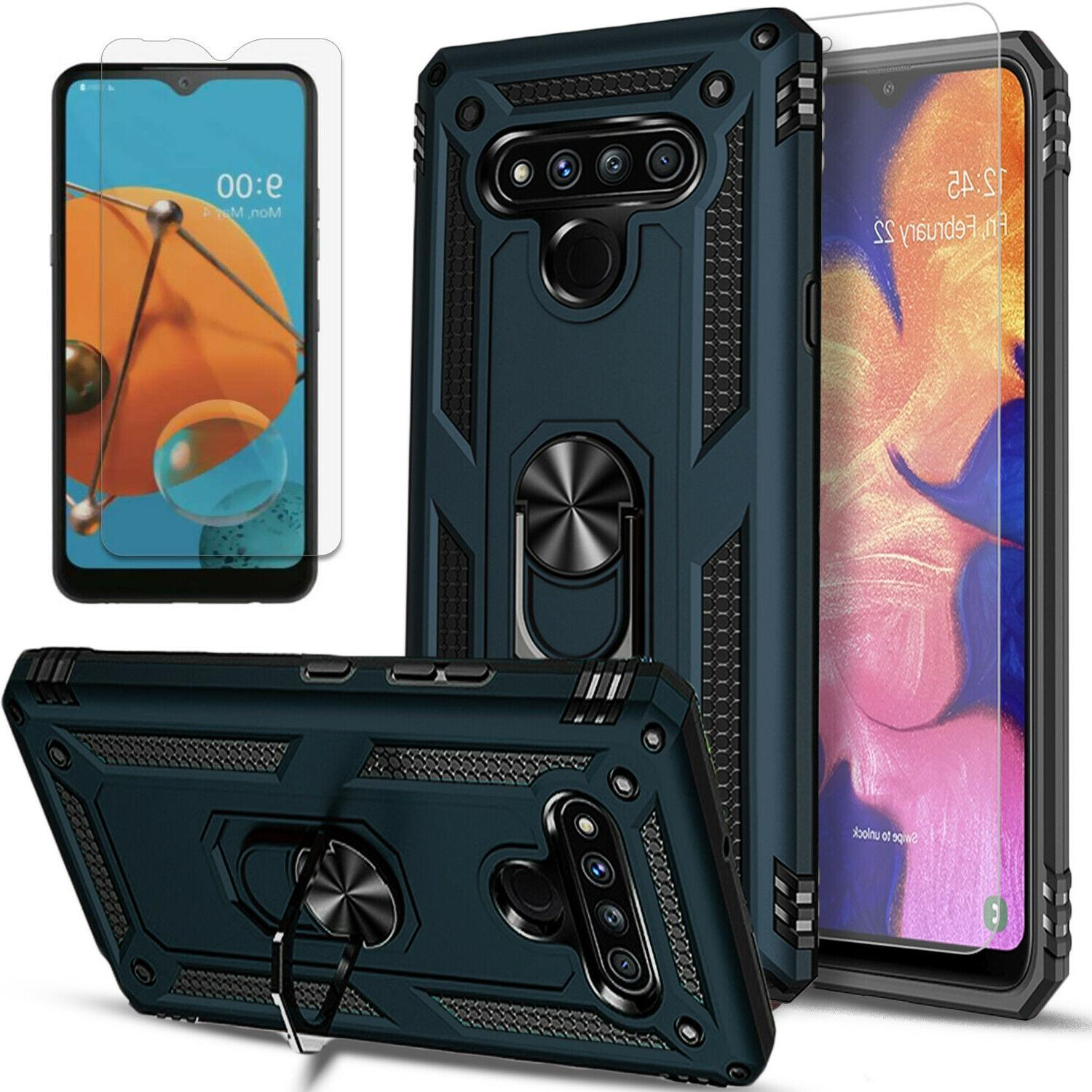 For LG Stylo Case, Magnetic Holder Kickstand + Protector