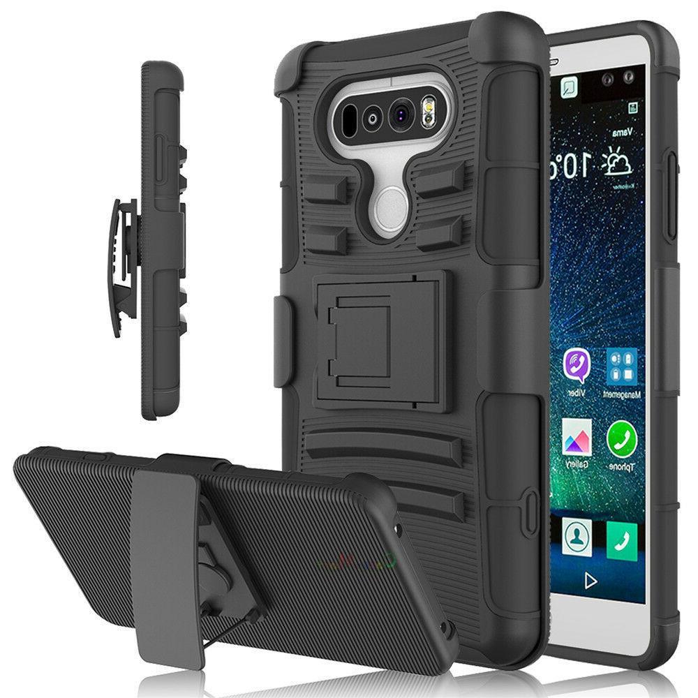 For LG V20 Shockproof Hybrid Duty Stand Case