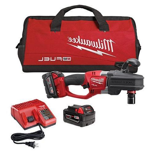 Milwaukee 2708-22 M18 Fuel Hole Hawg Right Angle Drill Kit w