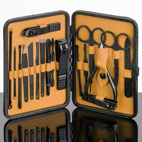 Men Women Heavy Steel Nail Clipper Finger Nails Cutter Grooming Kit USA