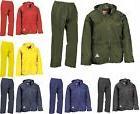 Mens Waterproof Windproof Heavy Duty Jacket & Trousers Rain