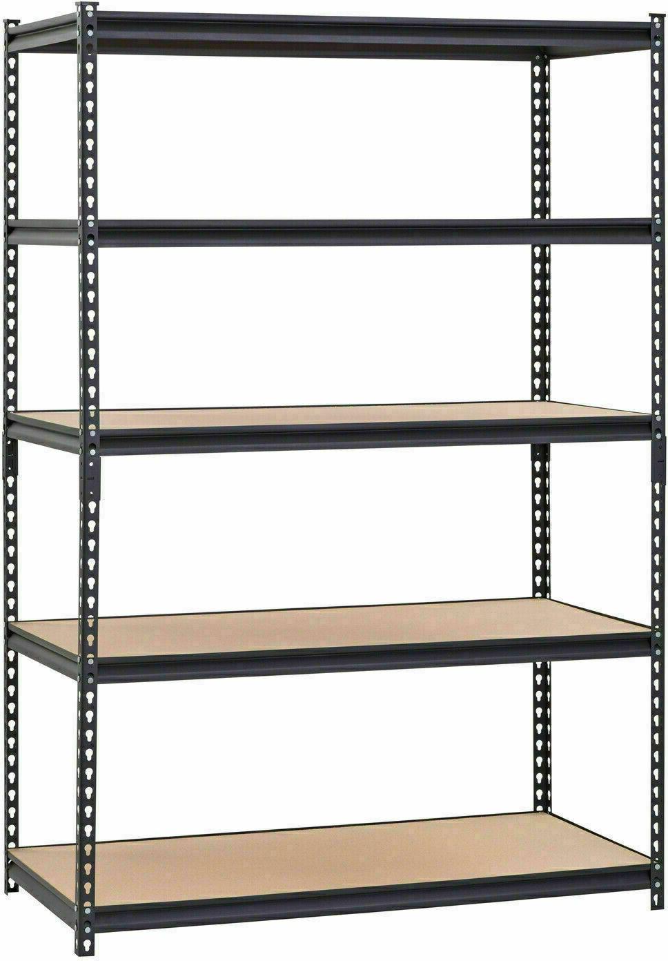 Muscle Rack Heavy-Duty 5-Shelf Steel Shelving 48x24x72 Garag