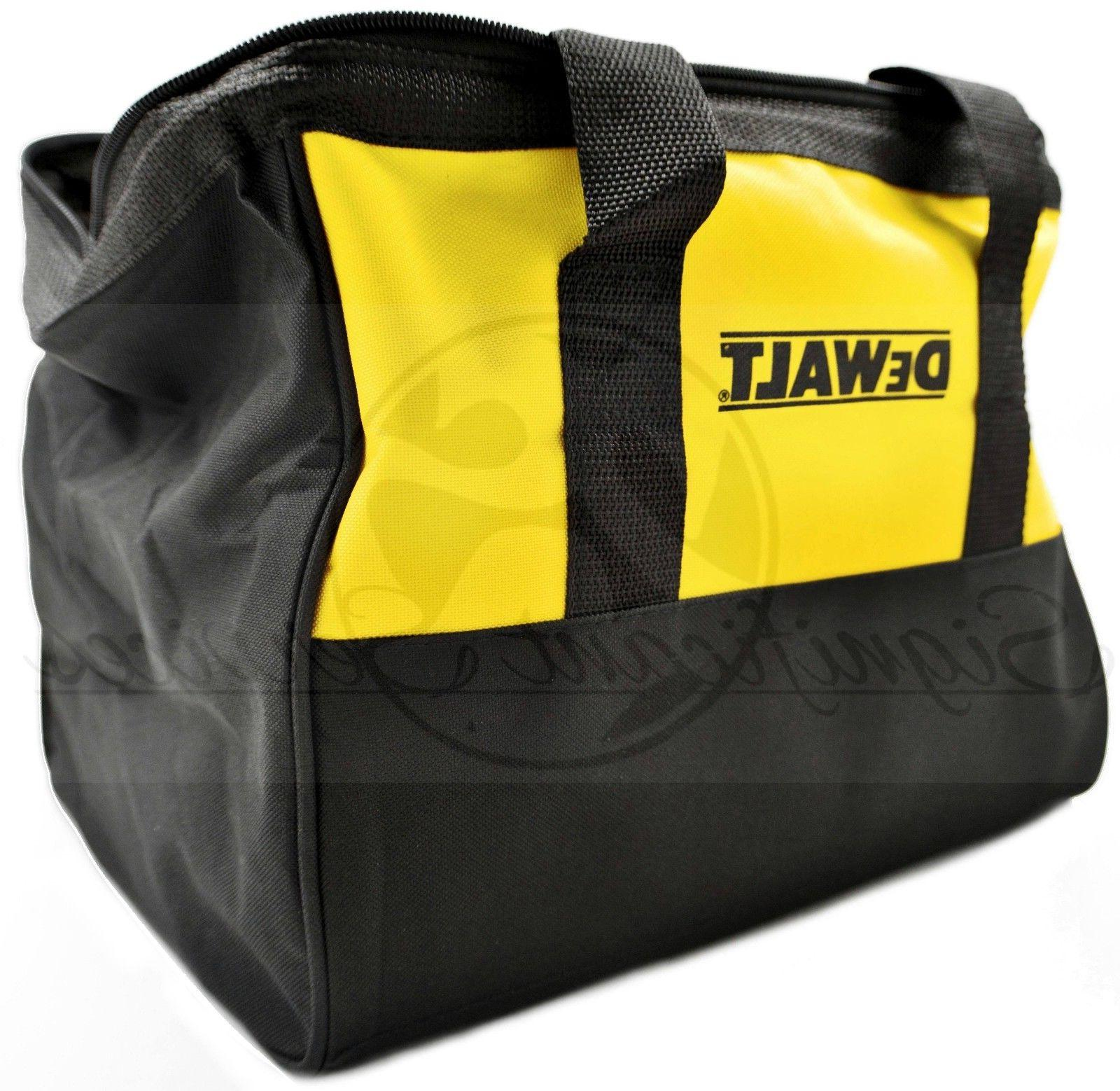 "NEW DeWALT 13"" Duty Nylon Canvas Contractor Tool Bag Pocket 6 N037466"