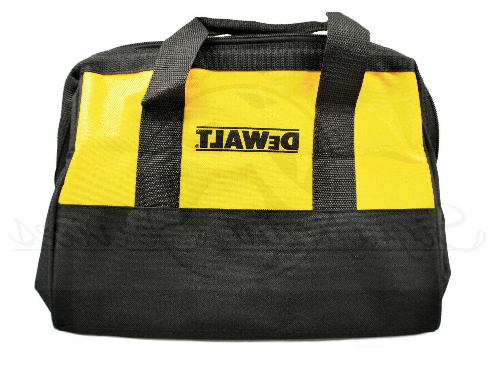 "NEW DeWALT 13"" Heavy Duty Nylon Canvas Contractor Tool Bag P"