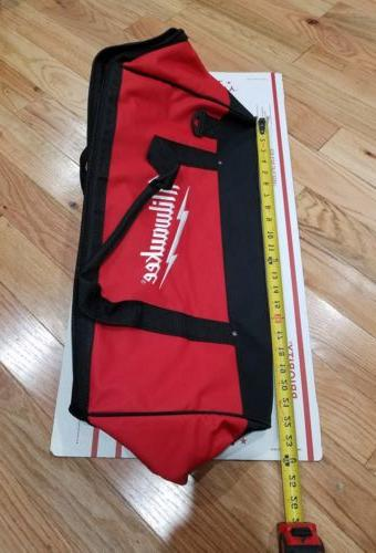 "New Large Milwaukee 22"" Heavy Duty Canvas Drill,Tool Bag/Cas"