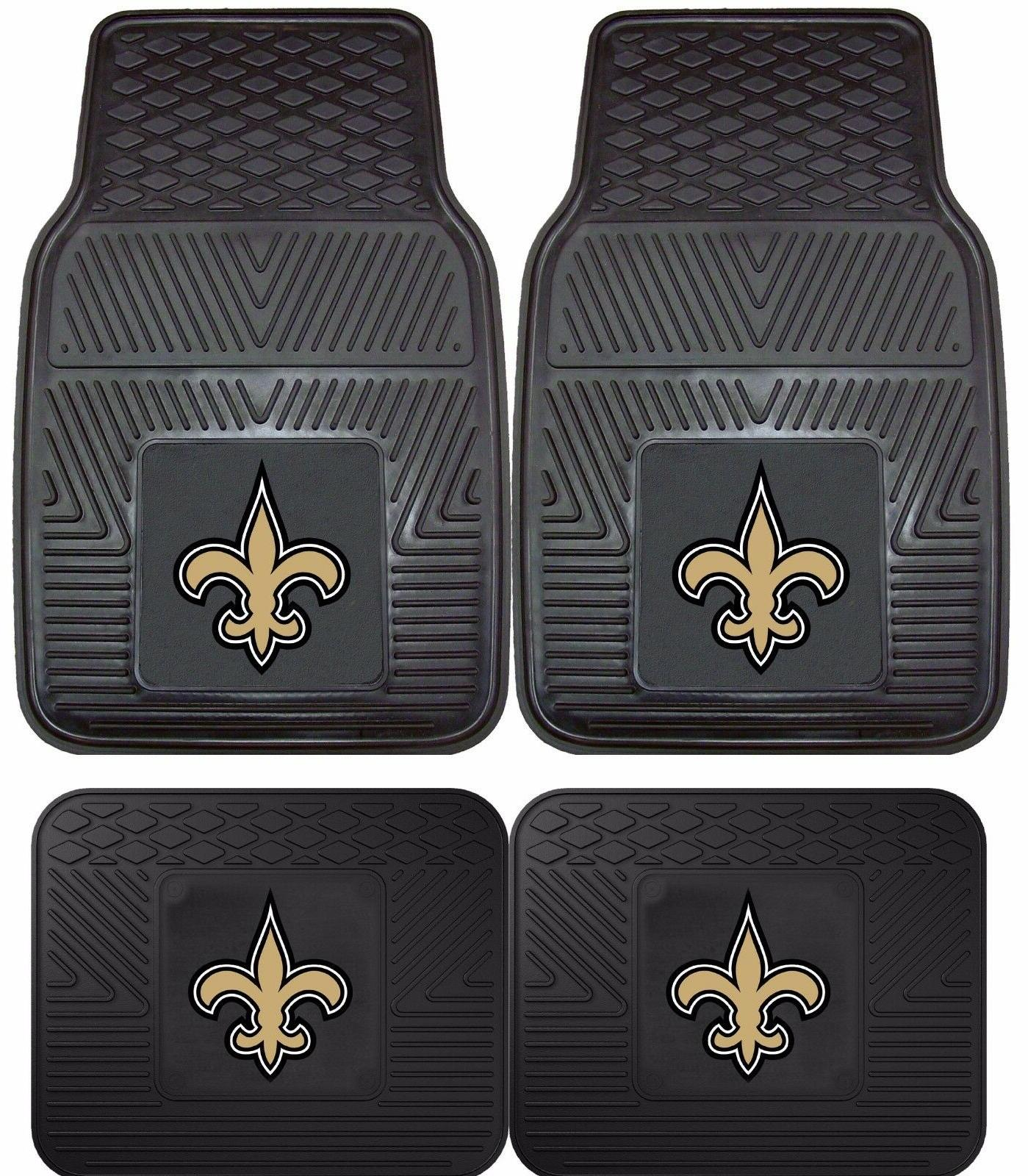 new orleans saints heavy duty floor mats