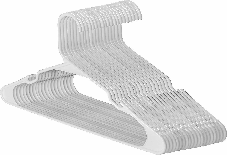 pack of 30 white plastic hangers lot
