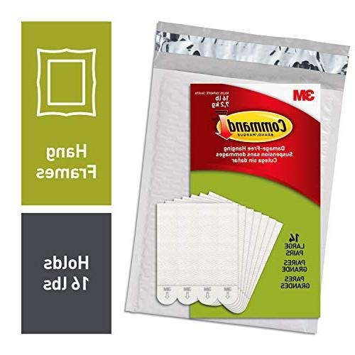 Command 3M Picture Hanging Strips, White, Decorate Damage Fr