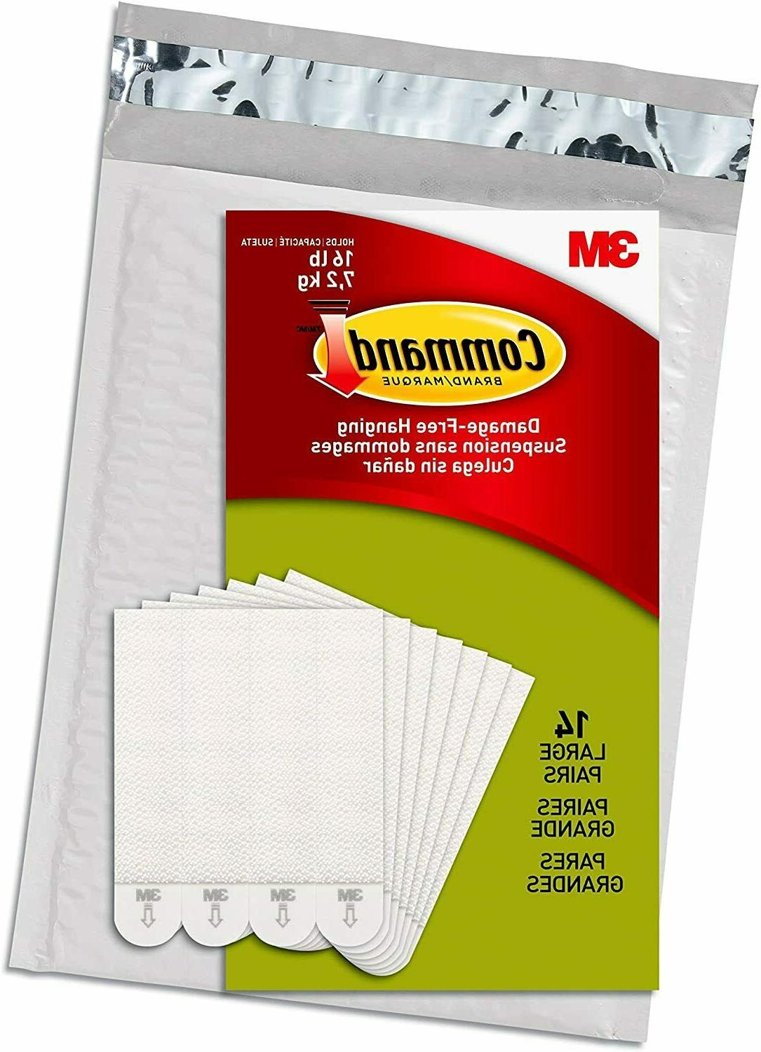 Command Picture Hanging Strips Heavy Duty, Large, White, Hol