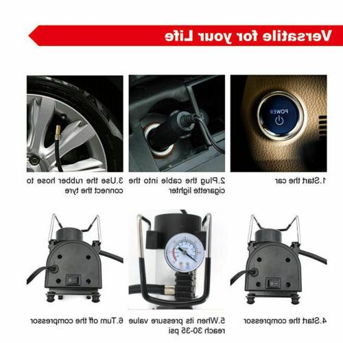 Portable 150PSI Air Compressor Car Inflator