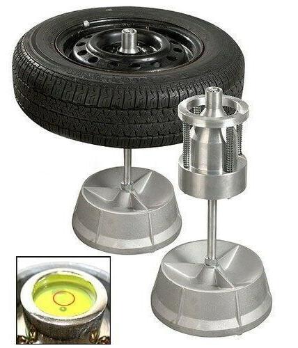 Portable Hubs Wheel Balancer W/ Bubble Level Heavy Duty Rim