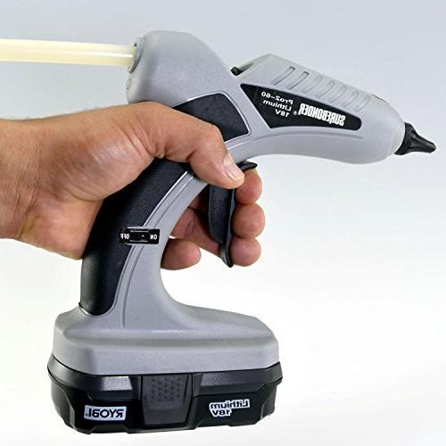 Surebonder Pro2-60KIT Cordless Temp Glue Gun Ryobi 18V Included