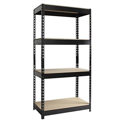 riveted steel 4 shelf shelving