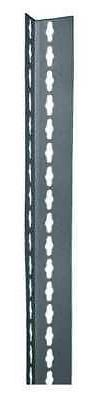 EDSAL RLU84 Shelving Post, Steel, Gray, 2 In. W, 1 In. D