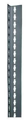 EDSAL RLU84 Shelving Post, Steel, Gray, 2 In. W, 1 In. D