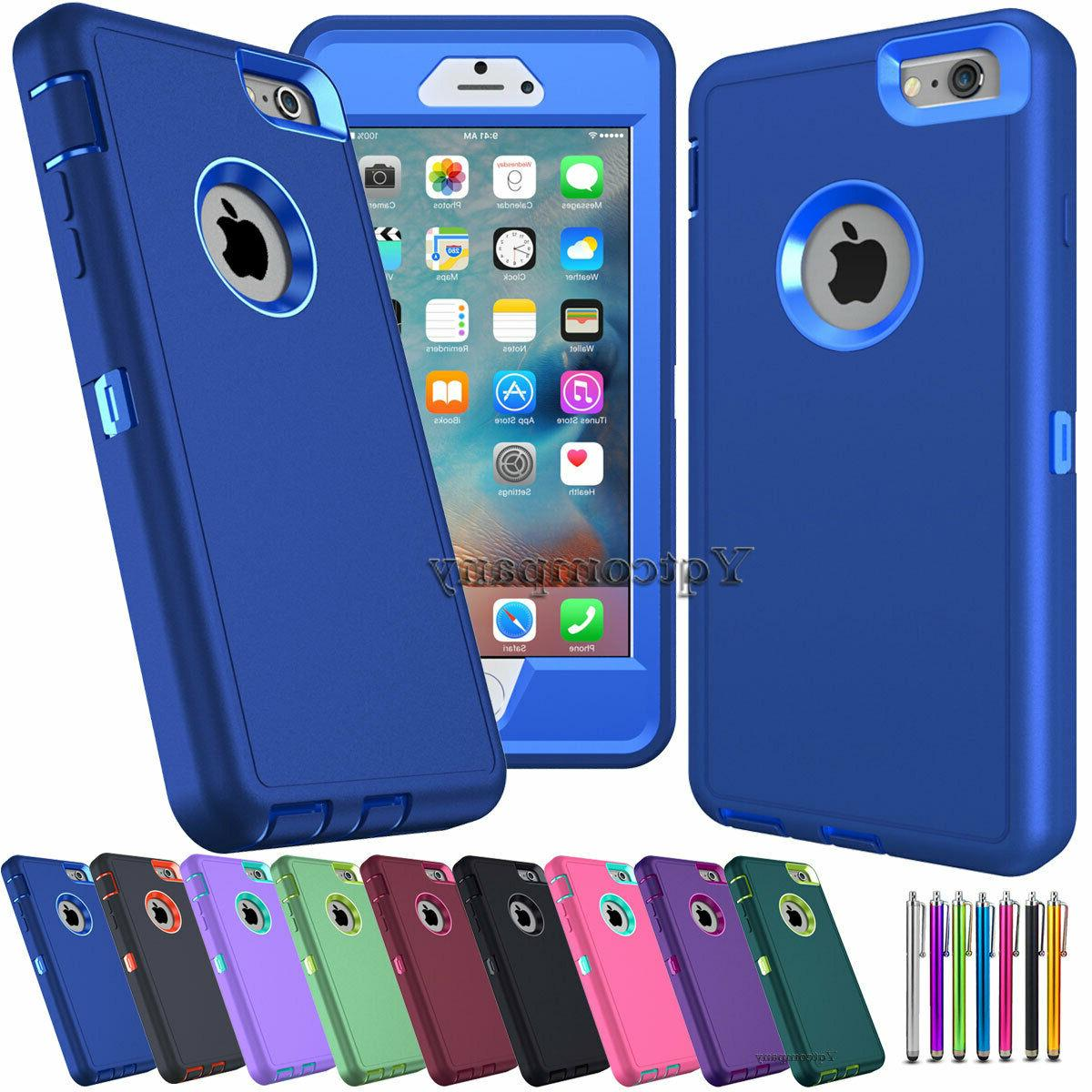 Rugged Heavy Duty 3-Piece Combo Shock Absorption Case Cover