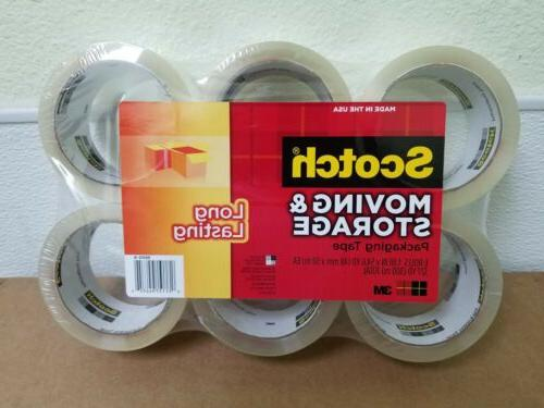 3M Scotch Moving & Storage Packing Tape - 6 Rolls Heavy Duty