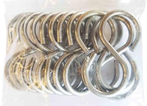 Pack 12 Stainless Steel Thick Duty Hooks