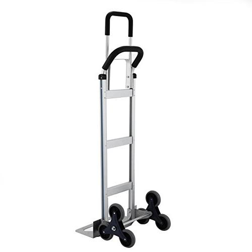 BLTPress Capacity Aluminum Assisted Utility Cart with Flat Pest Silver
