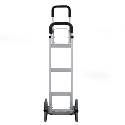 BLTPress VD-33862TL Aluminum Heavy Climber Hand Assisted Cart Flat Pest Repeller Silver