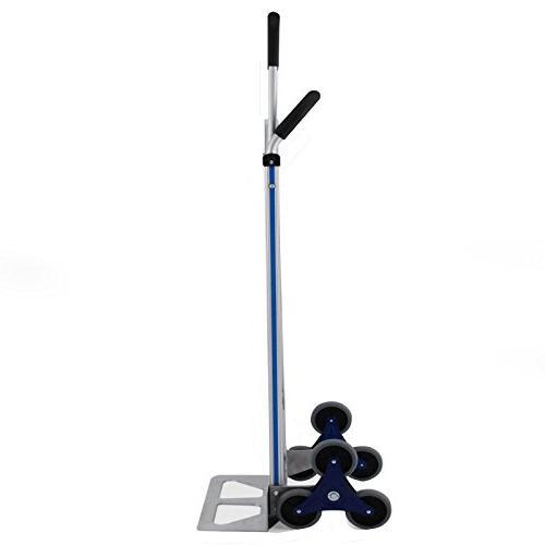 BLTPress VD-33862TL 550LBS Aluminum Duty Climber Assisted Utility Cart Flat Wheels, Pest Silver