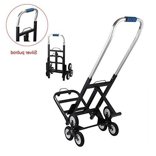 VEVOR Portable lb Capacity All Terrain Stair Truck Folding Heavy Wheels