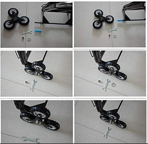 VEVOR Portable Cart 330 lb Capacity All Stair Hand Folding Heavy with Wheels
