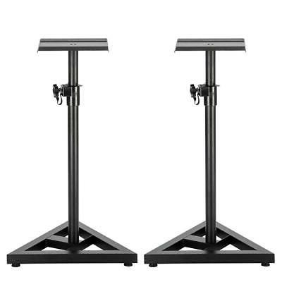 2x Heavy Duty Studio Monitor Speaker Stands Adjustable 1 Pai