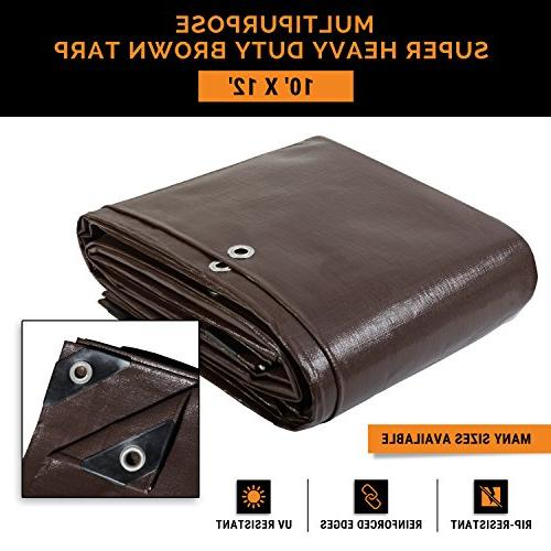 super heavy duty brown poly