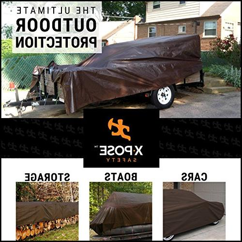 10' 12' Brown Poly Tarp - Resistant, Rip Tear Grommets and - by