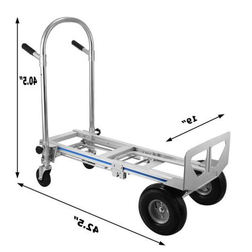 SX-3 Aluminum Hand Truck Dolly lbs capacity With Pneumatic Wheel