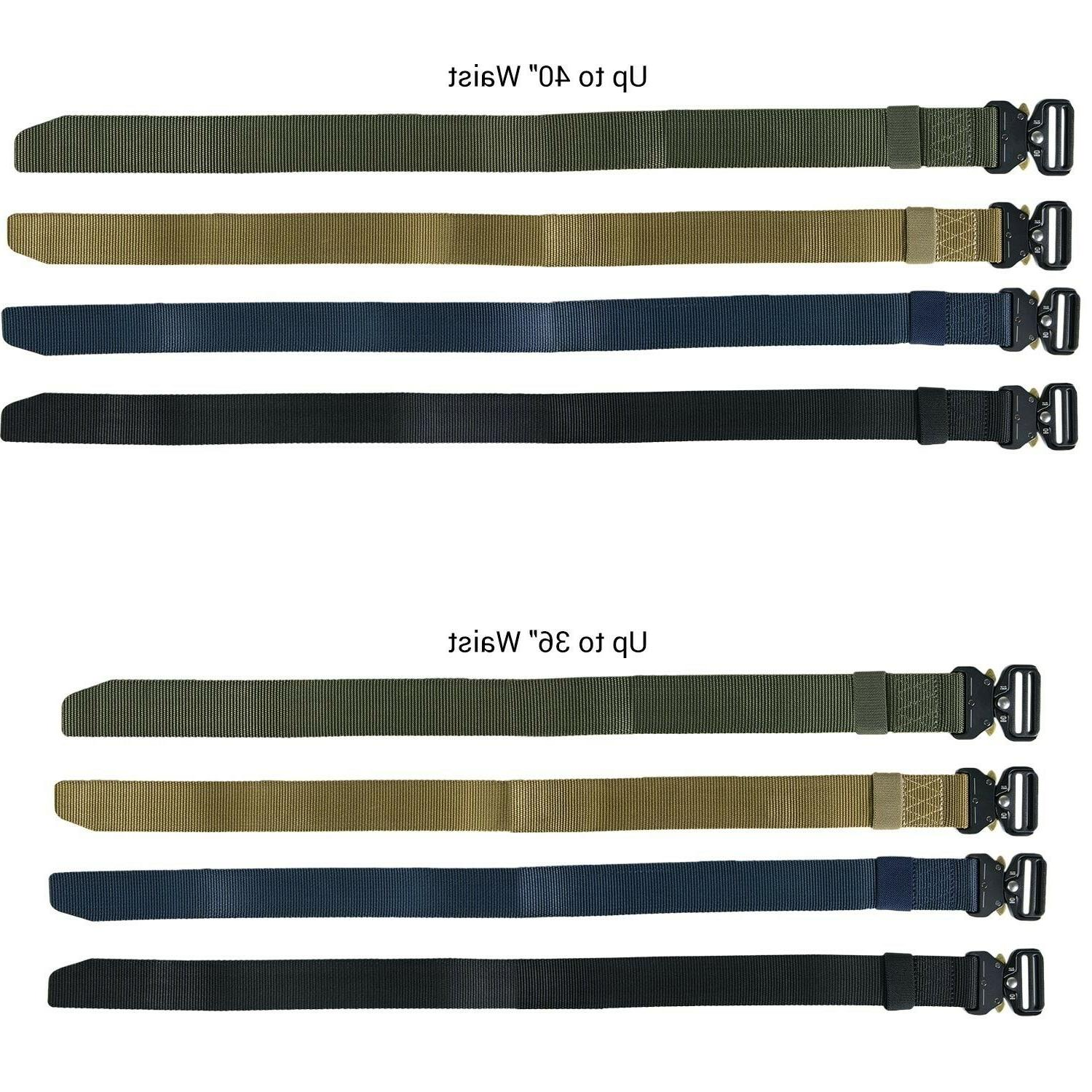 CoreLife Tactical Belt Heavy Nylon Metal Buckle Military