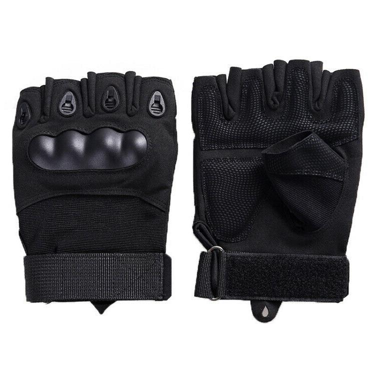 Tactical Mechanics Hard Gloves Construction Heavy Work Fingerless