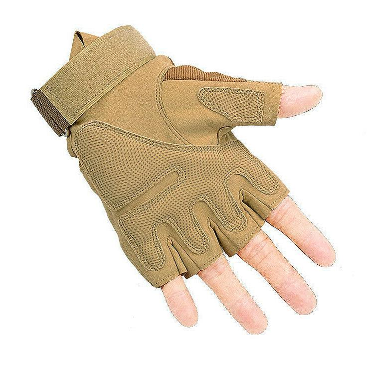 Tactical Gloves Construction Heavy Work - Fingerless