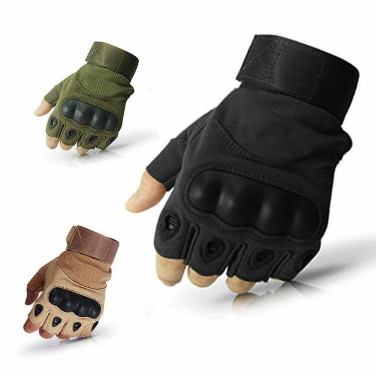 tactical hard knuckle mechanics work gloves construction