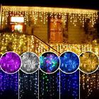 US 3M 96LED String Hanging Icicle Curtain Light Xmas Wedding