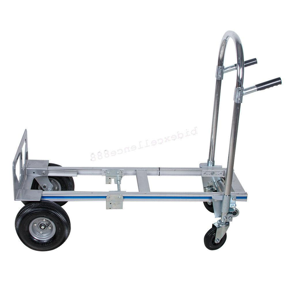【USA】Hand Truck 2-In-1 Convertible 2 to Wheeler Aluminum