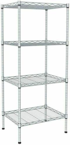 Utility Garage Shelving Unit 4 Shelf Heavy Duty Wire Metal R