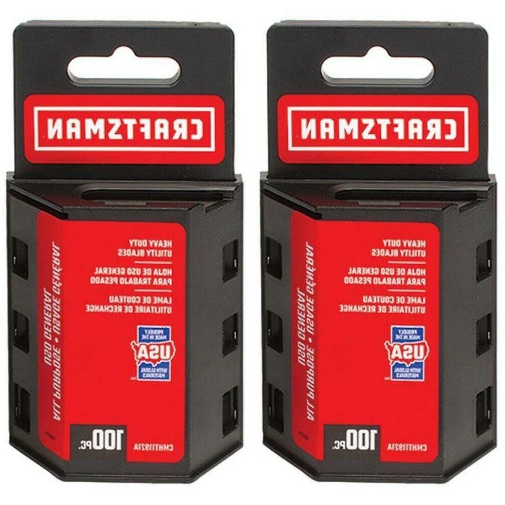 Utility Knife Replacement Blades Standard Heavy Duty Carbon