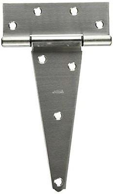 """National Hardware V285 8"""" Extra Heavy T Hinge in Stainless S"""