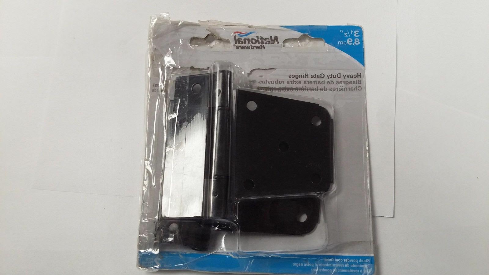 """National Hardware V287 Heavy Duty Gate Hinges 3 1/2"""" 2/pkg"""