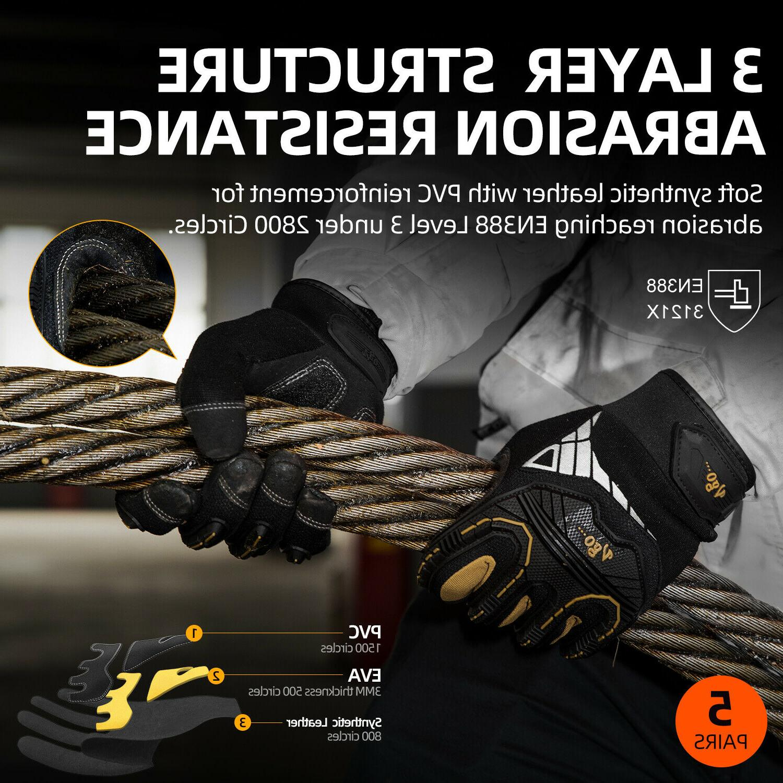 Vgo Impact-Absorb Work Gloves Rigger Gloves Men