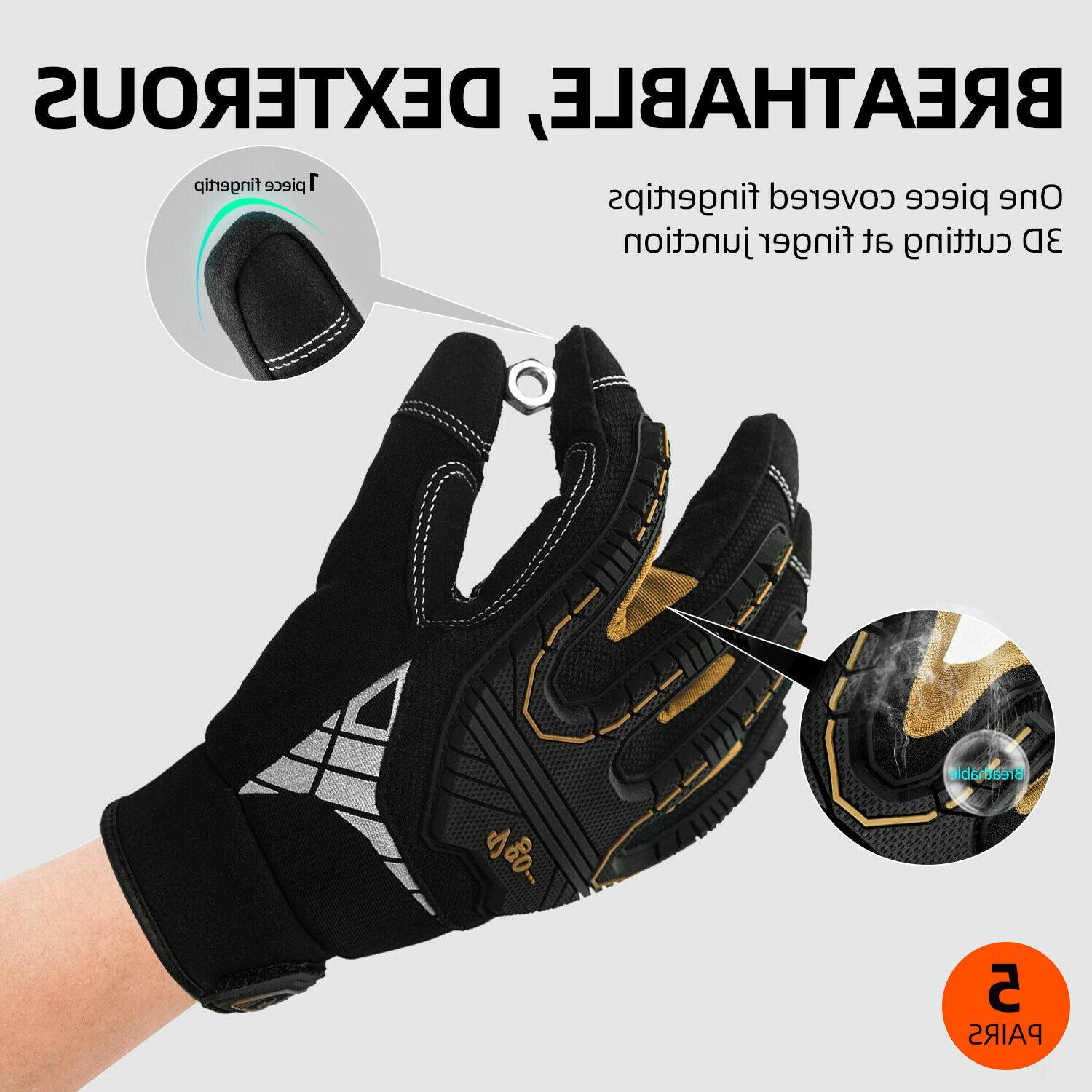 Vgo 3/5Pairs Impact-Absorb Gloves Gloves For