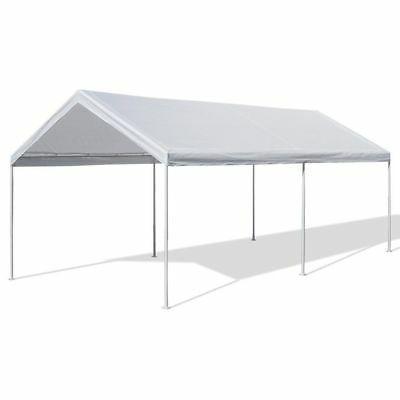 White Heavy Duty Canopy Tent 10x20 FT Steel Carport Portable